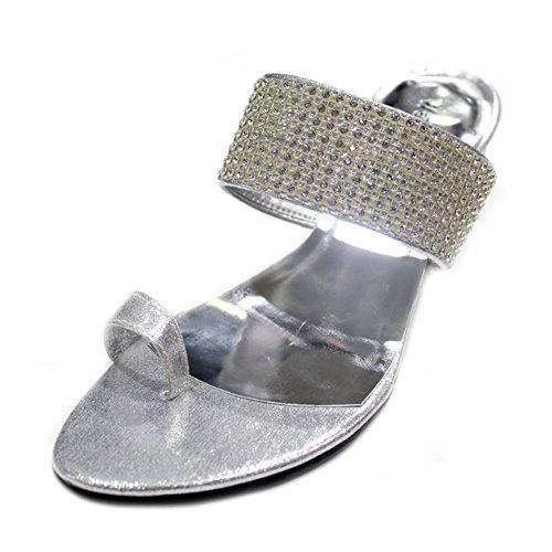 Bloc De Chaussures Fêtes Swarovski Soirée 4–9 Mesdames Talon amp; Femmes Sandales Silver Pierre Enfiler Moyenne peri Mariage Original Confort nbsp; À Taille W 7qaCw4U4