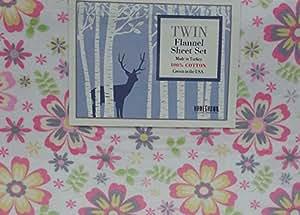 Homegrown Pink Flowers Cotton Flannel Sheet Set