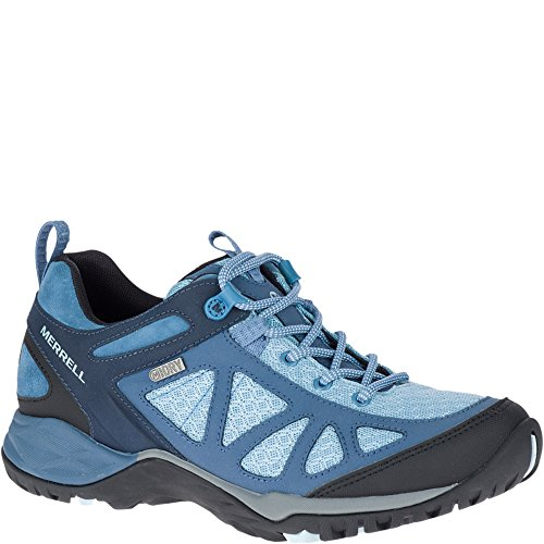 Merrell Women's Siren Sport Q2 Waterproof Hiking Boot, Blue, 7 Medium US by Merrell