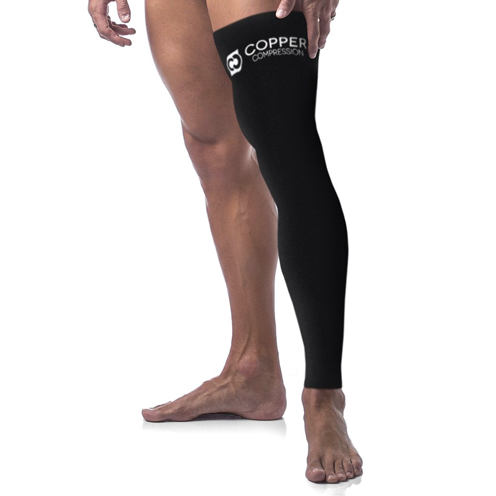 598c66606 Amazon.com  Copper Compression Full Leg Sleeve - Guaranteed Highest Copper  Sleeves   Pants. Single Leg Pant. Tights Fit for Men and Women.