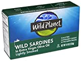 Wild Planet, Wild Sardines in Extra Virgin Olive Oil, 4.4 Ounce (Pack of 6)