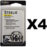 Nite Ize Steelie Dash Ball Component Kit Replacement Phone Mount Parts (4-Pack)