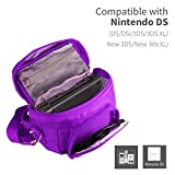 Orzly Travel Bag for Nintendo DS Consoles (Original DS / 3DS / 3DS XL / DS Lite / DSi / New 3DS / New 3DS XL / 2DS XL / etc.) - Includes Belt Loop, Carry Handle, Shoulder Strap - PURPLE