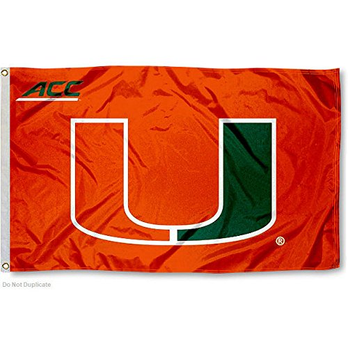 University of Miami Hurricanes ACC 3x5 Flag