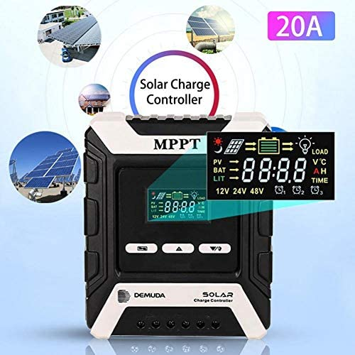 hook.s MPPT Solarladeregler 12V / 24V / 48V Auto, 10A Solarladeregler MPPT Automatische Identifizierung der Systemspannung