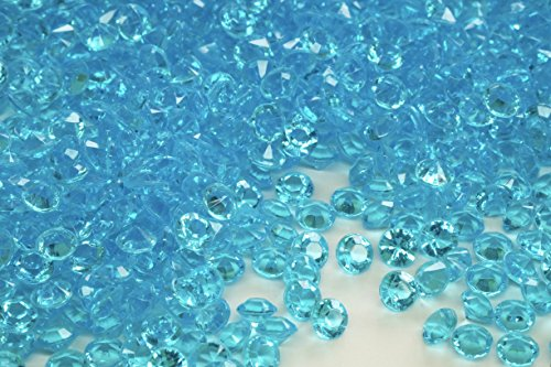 2000 Pcs 4.5mm 1/3ct Turquoise Blue Wedding Party Diamond Confetti Table Scatters Decoration Good Crafted DIY (Party Table Ideas)