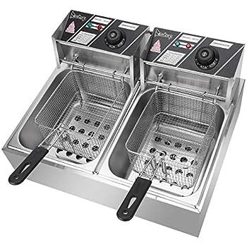 Amazon.com: Olymstore - Freidora eléctrica de doble depósito ...
