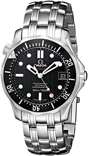 Omega Men's 212.30.36.20.01.001 Seamaster 300M Chrono Diver Black Dial Watch Diver Mens Black Dial