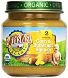 Earthsbest Corn & Butternut Squash(95% Organic), 4-Ounce (Pack of 12) ( Value Bulk Multi-pack)