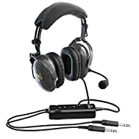 656b3080a68 FARO G3 ANR Aviation Headset (Active Noise Reduction) Carbon Fiber Premium  Pilot Headset with Bluetooth
