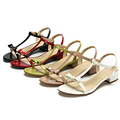 Summer CN40 5 Beach XIAOLIN Optional Fashion Colors Available Ms UK6 Summer Bow Coarse 02 Heel Shoes 01 Color Lady EU39 Multiple Size Sandals Size zIBxwd1x