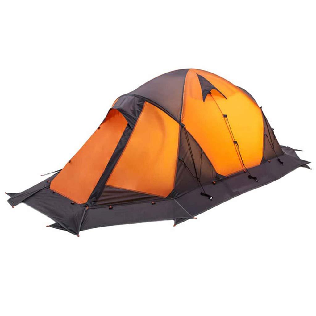 YaNanHome Doppeltes Windproof regendichtes Zelt des Zeltes im Freien 1-2 Leute Wildes kampierendes Zeltbergsteigenzelt (Farbe : Gelb, Größe : 210  130  110cm)