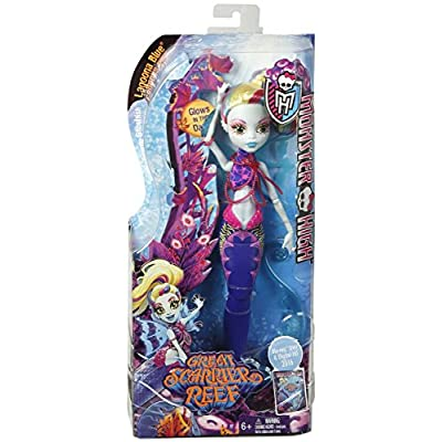 Monster High Great Scarrier Reef Glowsome Ghoulfish Lagoona Blue Doll: Toys & Games