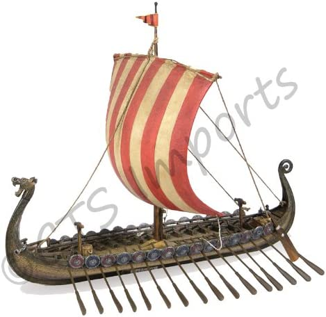 14 Viking Longship Troop Carrier Collectible Museum Replica Ship Model Military Gift