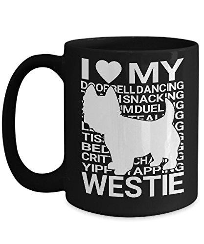 Shirt White Westie I love my Westie for Dog Loves Coffee Mug 15oz -