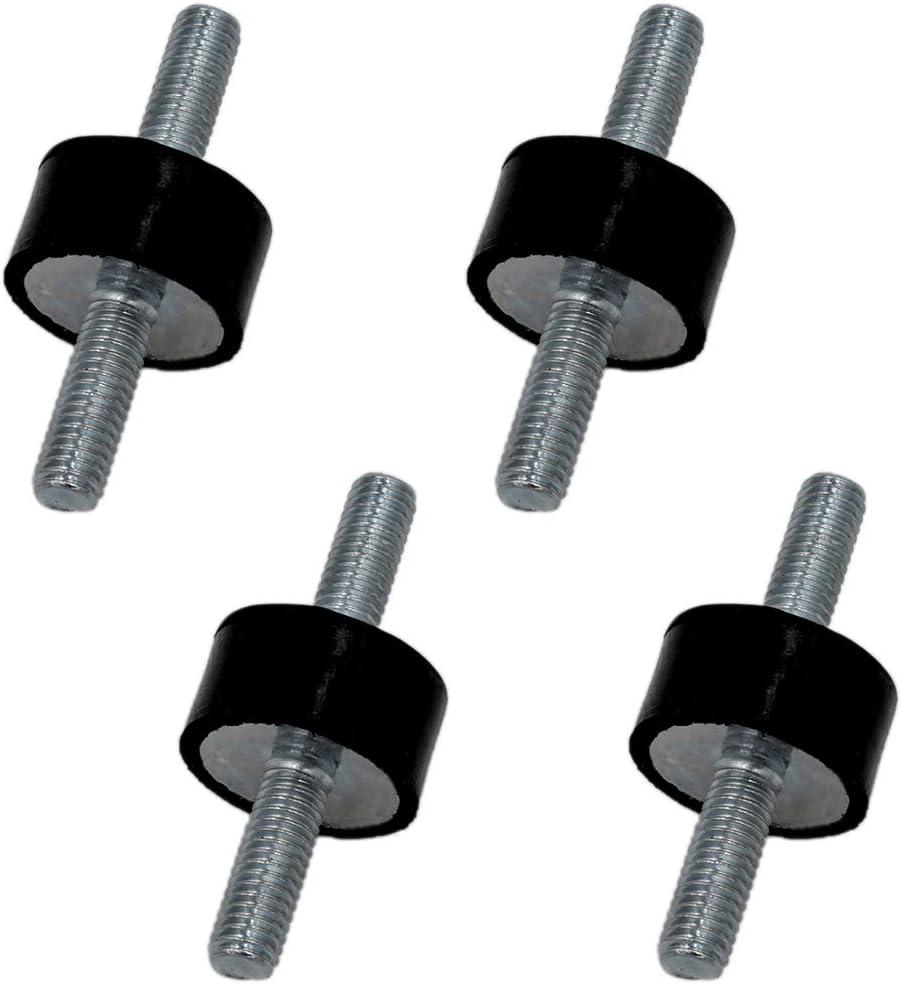4 St/ück M6 Schwingungsd/ämpfer Silentblock Gummipuffer 20x10mm