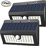 45 LED Solar Light, Magictec Super Bright Solar Motion Sensor Light Weatherproof Solar Lights Outdoor Wireless Solar Motion Security Light Solar Light Solar Sensor Light Metal Detector, 2 Pack