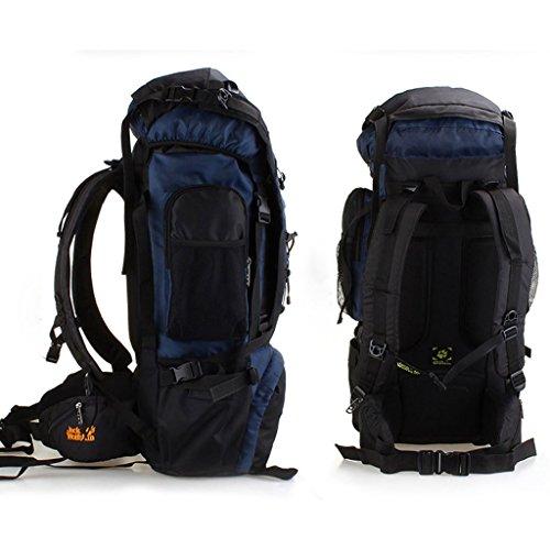 Wasserdichte Outdoor-Sporttasche großen Stahlberg Tasche Wanderrucksack Umhängetasche Männer und Frauen reiten DUNKELBLAU ZgdRTk