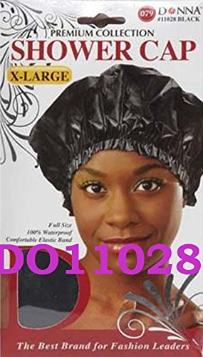 (Donna Premium Shower Cap X Large Black)