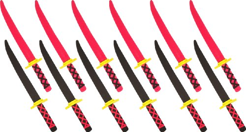 Foam Ninja Swords Set of 12 - Safe Fun - by Trademark -