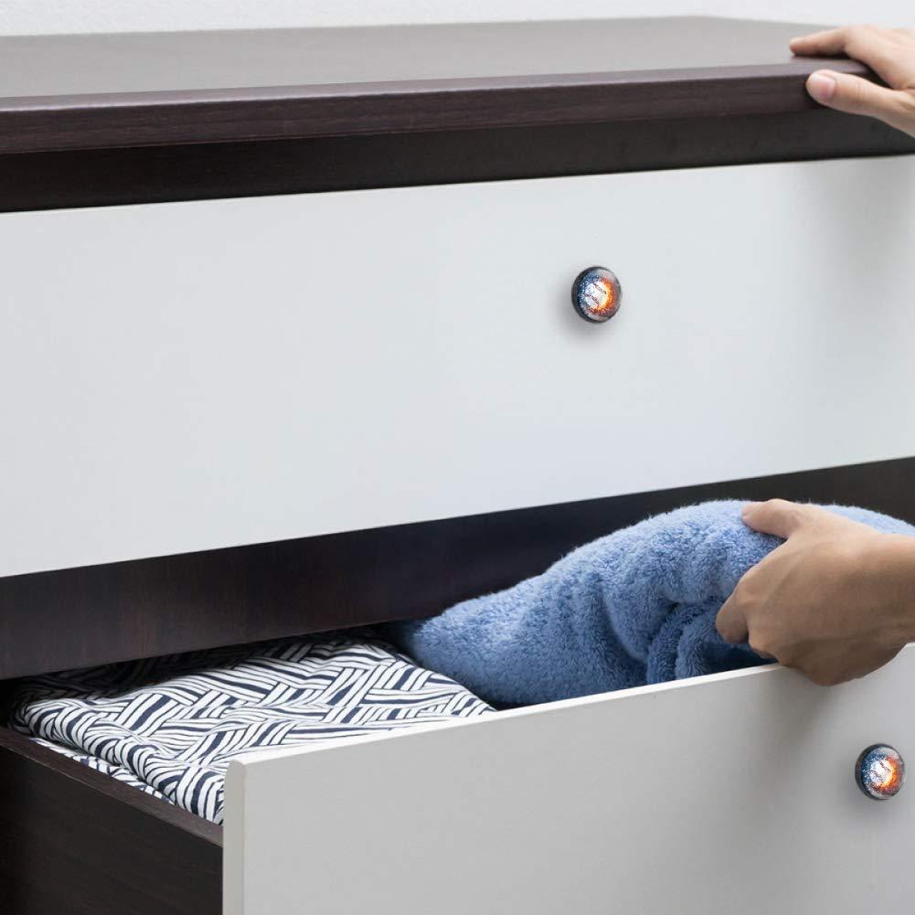 Idealiy Baseball Drawer Knob Pull Handle Cupboard Knobs with Screws 4pcs