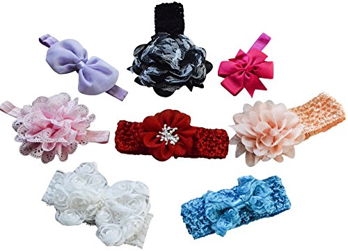 Baby Headbands with Flower Bows product image