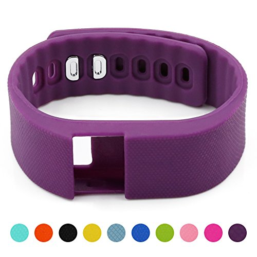 Soft Silicone Band for Teslasz Fitness Tracker in 10 Colors - Purple