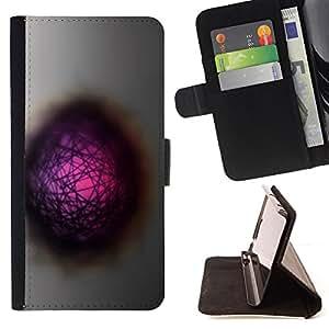 - cool abstract hole dimension pink - - Prima caja de la PU billetera de cuero con ranuras para tarjetas, efectivo desmontable correa para l Funny HouseFOR Sony Xperia Z1 L39