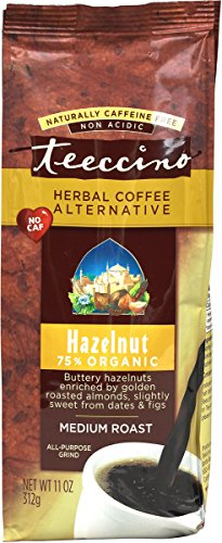 Teeccino Hazelnut Herbal Coffee Alternative,75% Organic Caffeine On the loose, Non Acidic,11 oz