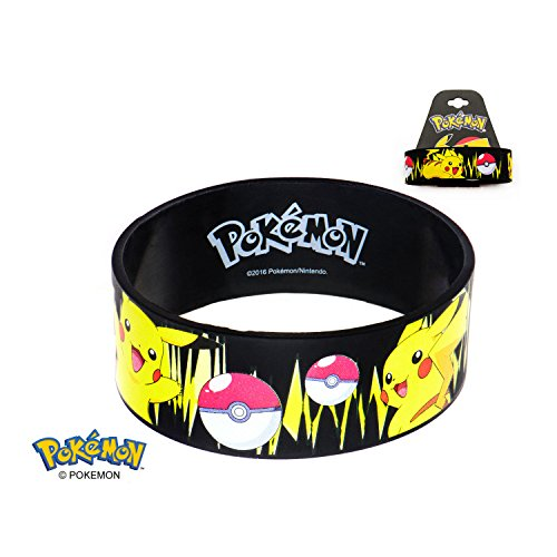 Pokemon Pokeball Character Print Silicone Youth Rubber Bracelet PMBR0 (Pikachu) (Pokemon Games For My Boy Gba Emulator)
