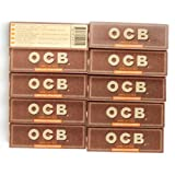 10 booklets OCB VIRGIN Regular size UNBLEACHED Rolling paper - total 500 papers
