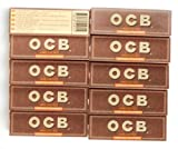Best Rolling Papers - 10 booklets OCB VIRGIN Regular size UNBLEACHED Rolling Review