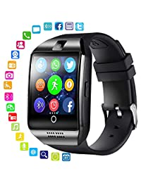 Bluetooth Smart Wristwatch, LEEGOAL Q18 Waterproof Smart Watch with Touch Screen, SIM Card Slot and Camera for Android, iOS, Men, Women, Kids