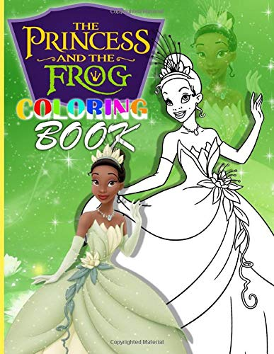 Princess And The Frog Coloring Book An Adult Coloring Book