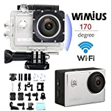 Sports Camera,WiMiUS 16MP HD 1080p 60fps WiFi Action Camera Waterproof Sports Diving Camera with 170 Degree Ultra-wide Angle Lens (S2)