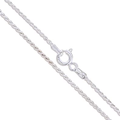 amazon diamond sterling dp cut necklace chain gauge silver quot rope biqrmrl