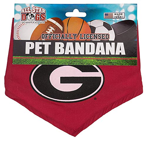 All Star Dogs Georgia Bulldogs Dog Bandana - Large