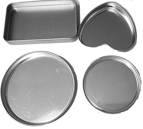Heart Pan, 2 Round Pans & 1 small extra rectangle pan