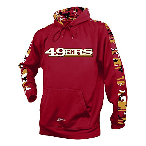 NFL San Francisco 49Ers Men's Zubaz Camo Print Accent Team Logo Synthetic Hoodie, Medium, (Team Logo Print)