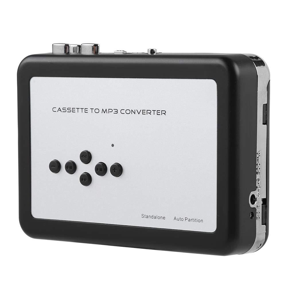 VBESTLIFE Lecteur de Cassette Portable, Convertisseur MP3 Flash USB Capture Audio Music Player alimenté par Batterie et par USB