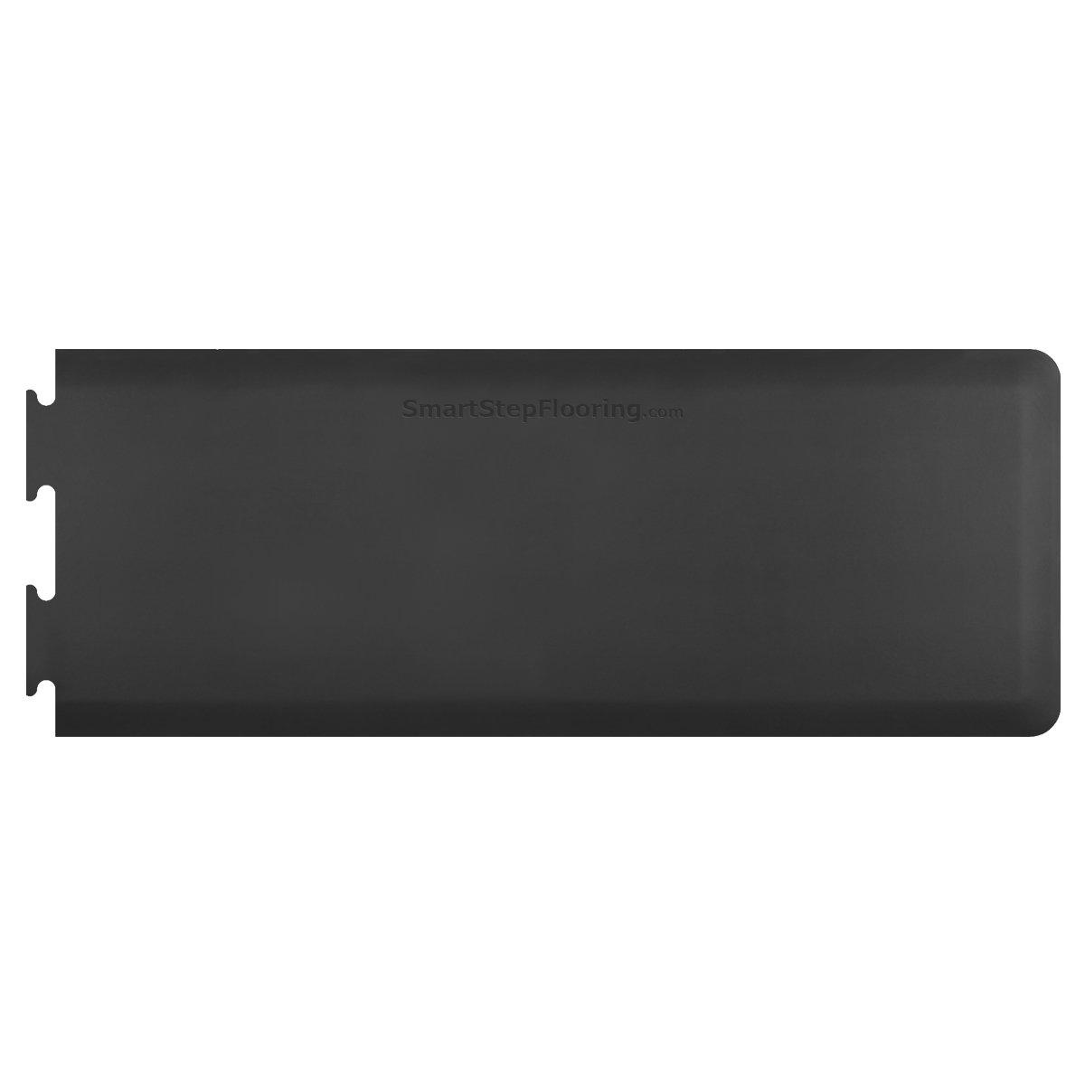 Smart Step Maxum Anti-Fatigue Polyurethane Mat, Right Puzzle Runner Segment, 33'' Length x 24'' Width x 5/8'' Thick, Black