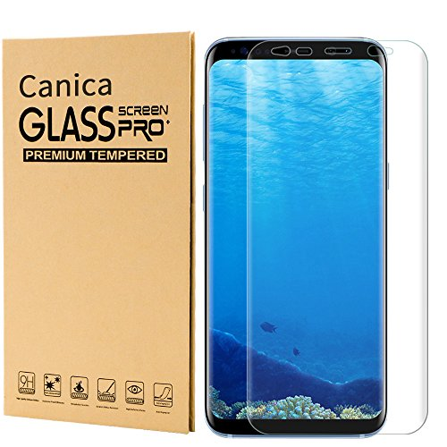 Price comparison product image Galaxy S8 Plus Screen Protector,Galaxy S8 Plus Tempered Glass Screen Protector,Canica Samsung S8 Plus Tempered Glass film Full Coverage HD Clear for Galaxy S8 Plus (#001)