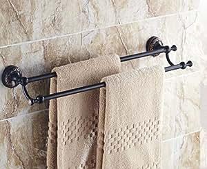 Cer mica antigua y bronce de doble v stago barra de toalla for Accesorios bano bronce