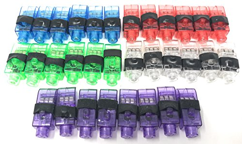 100 Bulk LED Personal Party Finger Light Flashlight - 5 Color Assortment -