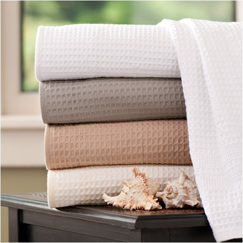 Classic Waffle Weave Bath Sheet - White by Gilden Tree