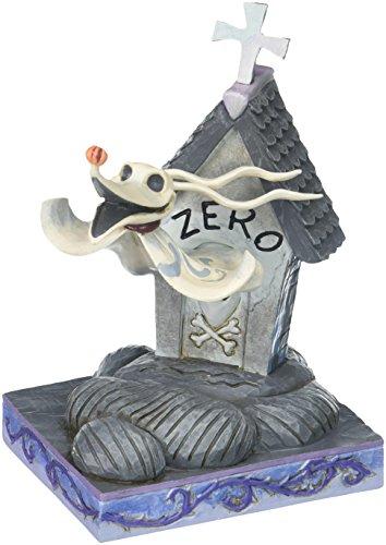 "Disney Traditions by Jim Shore ""The Nightmare Before Christmas"" Zero Stone Resin Figurine, 5"" Zero Nightmare Before Christmas"