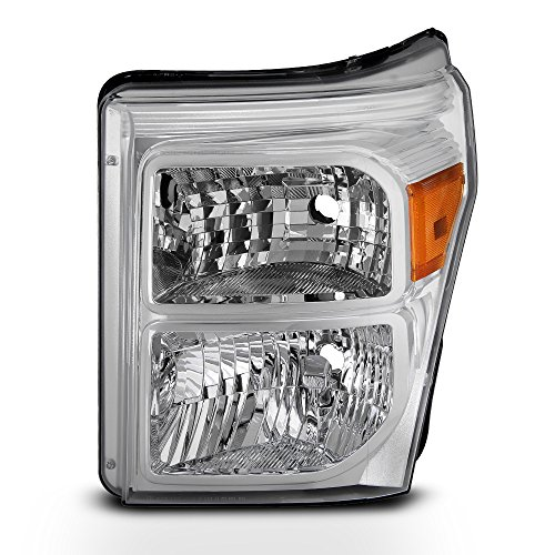 For 2011 2012 2013 2014 2015 2016 F250 F350 F450 F550 SuperDuty Left Driver Side Headlight Chrome Lamp ()