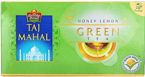 Brooke Bond Taj Mahal Green Tea Bags - Honey and Lemon, 25g Box: Amazon.in