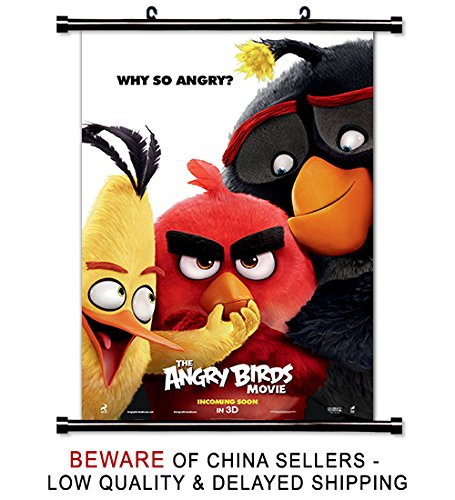 Angry Birds Movie Fabric Wall Scroll Poster (32 x 48) Inches
