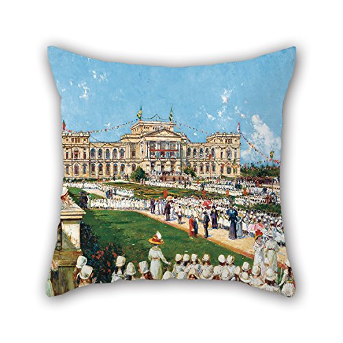 [Uloveme 18 X 18 Inches / 45 By 45 Cm Oil Painting Agustín Salinas Y Teruel - School Festival At Ipiranga Throw Pillow Case ,double Sides Ornament And Gift To Kitchen,lover,christmas,car,drawing] (Bull Rider Costume Toddler)